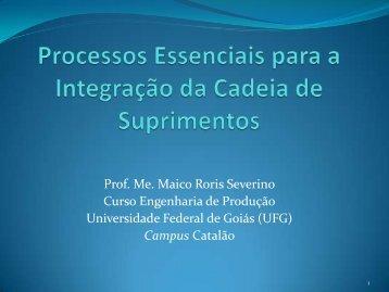 Prof. Ms. Maico Roris Severino (UFG) Tema - UNEMAT