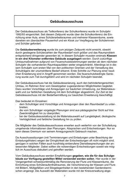 Entwurf zum Schulprogramm - Schulen in der Region Oberberg