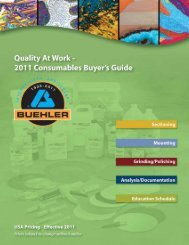 Your Partner for Consumables in Materials Preparation Buehler ...