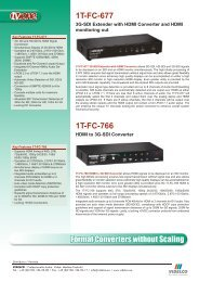 Format Converters without Scaling 1T-FC-677 1T-FC-766 - VIDELCO