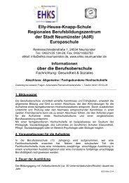 Berufsoberschule - Elly-Heuss-Knapp-Schule - Stadt Neumünster