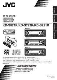 KD-S871R/KD-S723R/KD-S721R - Jvc