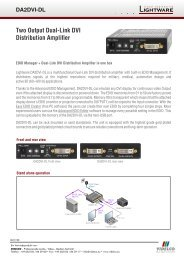 Two Output Dual-Link DVI Distribution Amplifier - VIDELCO