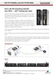 Dual Link DVI reclocking extender  over CAT5 ... CAT7  ... - VIDELCO