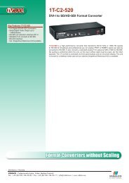 Format Converters without Scaling 1T-C2-520 - VIDELCO