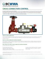 cross connection control programs - BC Water & Waste Association