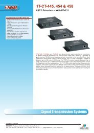 Signal Transmission Systems 1T-CT-445, 454 & 458 - VIDELCO