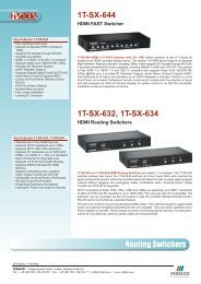 Routing Switchers 1T-SX-644 1T-SX-632, 1T-SX-634 - VIDELCO