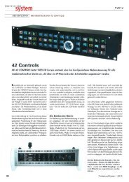 Medientechnik - Mediensteuerung 42 CONTROLS - VIDELCO