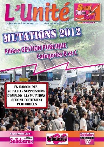 Mutations 2012 B et C GESTION PUBLIQUE