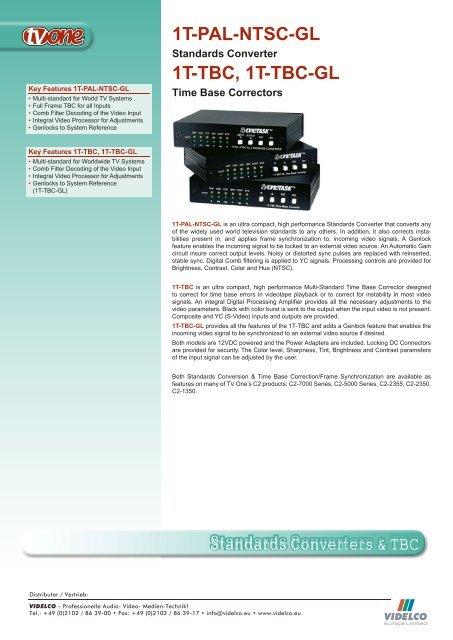 1T-PAL-NTSC-GL - VIDELCO