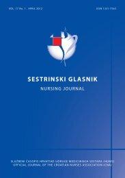 NO 1 2012 za web.pdf - Hrvatska udruga medicinskih sestara