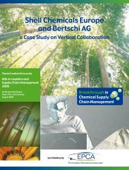 Shell Chemicals Europe and Bertschi AG - Epca