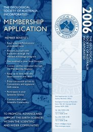 membership application - Geological Society of Australia