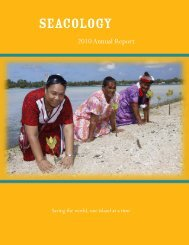 2010 Annual Report - Seacology
