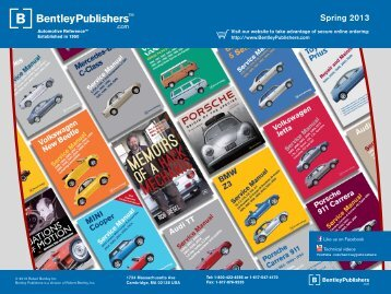 Spring 2013 Catalog - Bentley Publishers