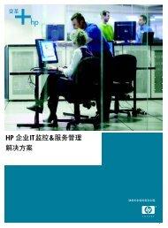 HP 企业IT监控&服务管理解决方案 - Hewlett-Packard