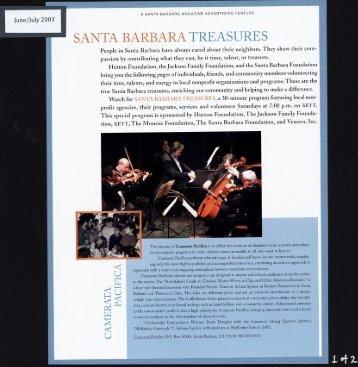 SANTA BARBARA TREASURES - Hutton Foundation
