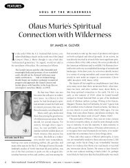 Olaus Murie's Spiritual Connection with Wilderness - Wilderness.net