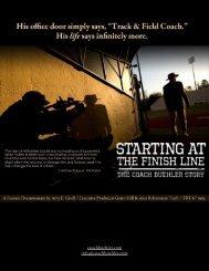Starting at the Finish Line Press Kit
