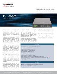 Harris DL-860 datasheet - Creative Video
