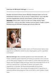 Interview mit Michaela Holzinger von Janett Kraus