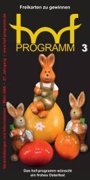 ostern - Hof Programm
