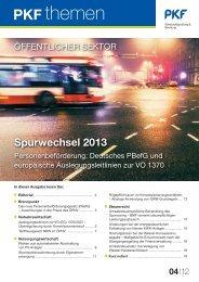 Heft 4 12/2012 Das neue Personenbeförderungsgesetz (PBefG) - PKF