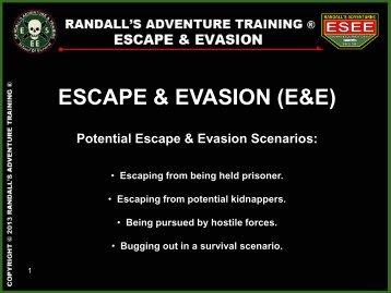 escape & evasion (pdf) - Randall's Adventure and Training