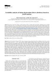 Variability analysis of Sukun durian plant (Durio zibethinus ... - UNS