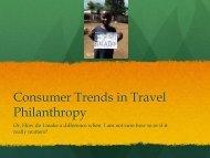 Powerpoint Presentation: Consumer Trends in Travel Philanthropy