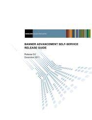 Banner Advancement Self-Service / Release Guide / 8.6