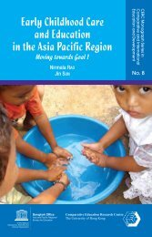 Early childhood care and education in the Asia ... - unesdoc - Unesco