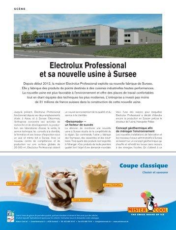 Electrolux Professional et sa nouvelle usine à Sursee
