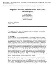 Properties, principles, and parameters of the gecko adhesive system