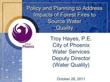 Policy and Planning to Address Impacts of Forest Fires ... - WESTCAS