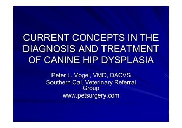 CURRENT CONCEPTS IN THE DIAGNOSIS AND TREATMENT OF ...