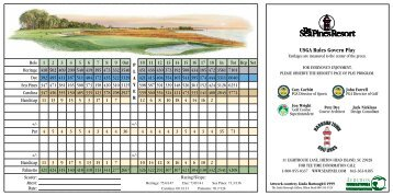 View the Harbour Town Golf Links scorecard. - Sea Pines Resort