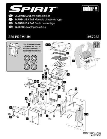 aufbauanleitung spirit premium e 210 weber der grill. Black Bedroom Furniture Sets. Home Design Ideas