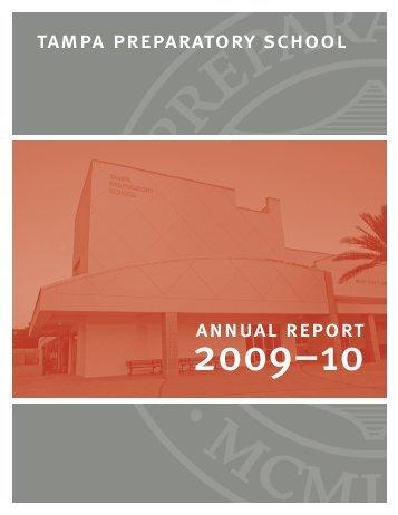 2009-2010 Annual Report - Tampa Preparatory School