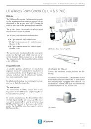 EN.33.C.14_LK Wireless Room Control Cq 1, 4 & 6 ... - LK Systems AB
