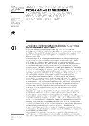 ANNÉE UNIVERSITAIRE 2007-2008 PROGRAMME Et clEndRiER ...