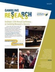 Spring 2013 - Alberta Gambling Research Institute - University of ...