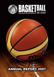 2007 BBNZ Annual Report - Basketball New Zealand