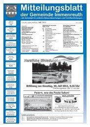 Mitteilungsblatt - Immenreuth