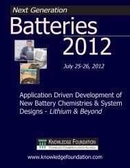 Designs - Lithium & Beyond Next Generation