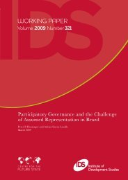 Participatory Governance and the Challenge of Assumed ...