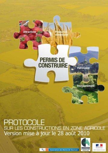 Protocole - Préfecture de Vaucluse