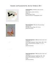 Auswahl der gezeigten Kunstwerke - we help you