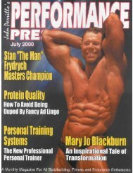 Performance Press July 2000 - Parrillo Performance